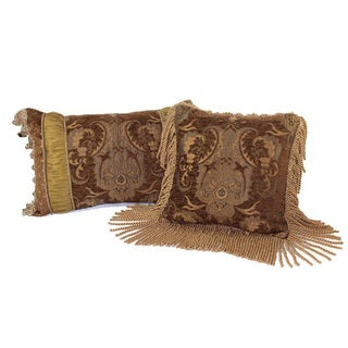 Sherry Kline China Art Brown Luxury Pillows (Set of 2)