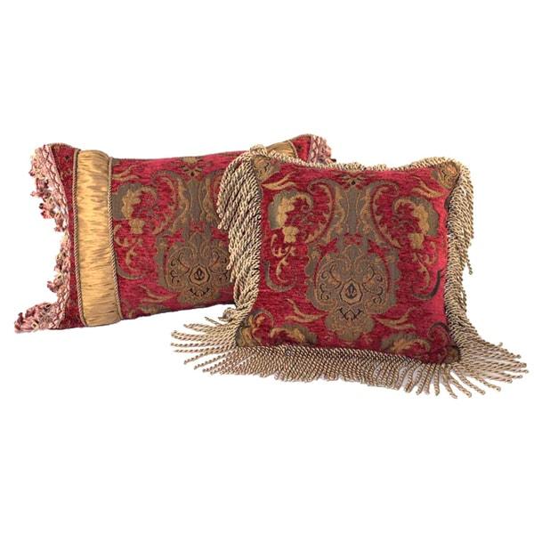 PCHF China Art Red Luxury Pillows (Set of 2)