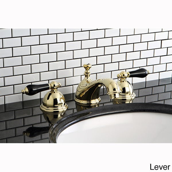 Black Widespread Bathroom Faucet : Polished Brass and Black Widespread Bathroom Faucet - Free Shipping ...