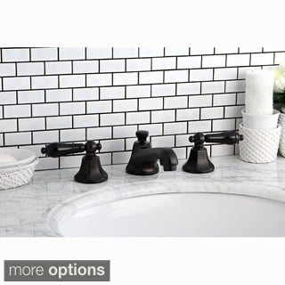 Oil Rubbed Bronze and Black Widespread Bathroom Faucet