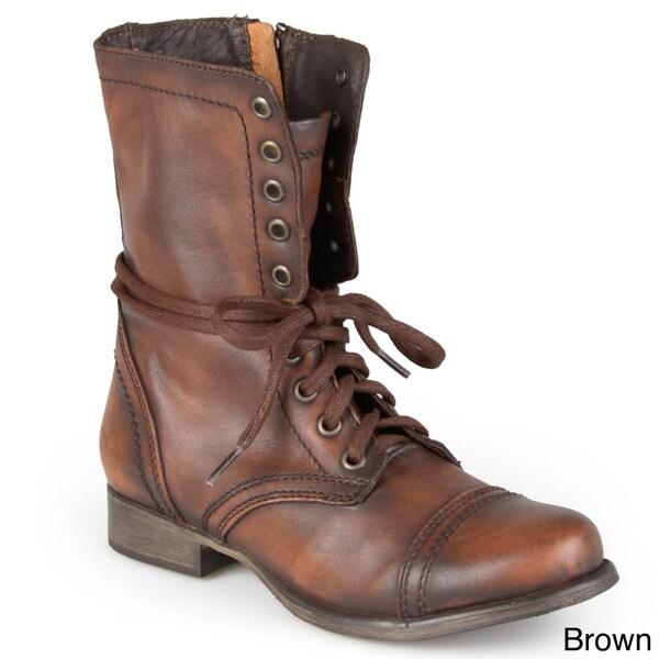 Steve Madden Women's 'Troopa' Lace-Up Round Toe Combat ... Steve Madden Combat Boots Men