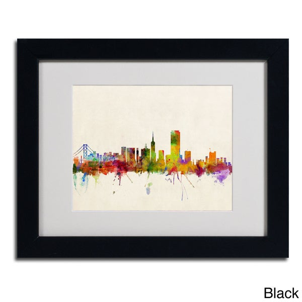 Michael Tompsett 'San Francisco, CA' Framed Matted Art
