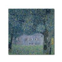 Gustav Klimt 'Farmhouse In Upper Austria' Canvas Art - Multi