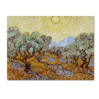 Vincent van Gogh 'Olive Trees 1889' Canvas Art - Multi