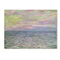 Claude Monet 'Coucher de Soleil a Pourville' Canvas Art - Multi