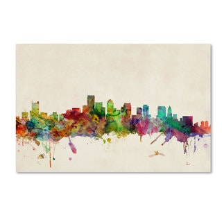 Michael Tompsett 'Boston, Massachusetts' Canvas Art