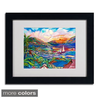 Manor Shadian 'Sunset' Framed Matted Art