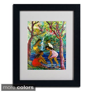 Manor Shadian 'Four Girls In Maui' Framed Matted Art