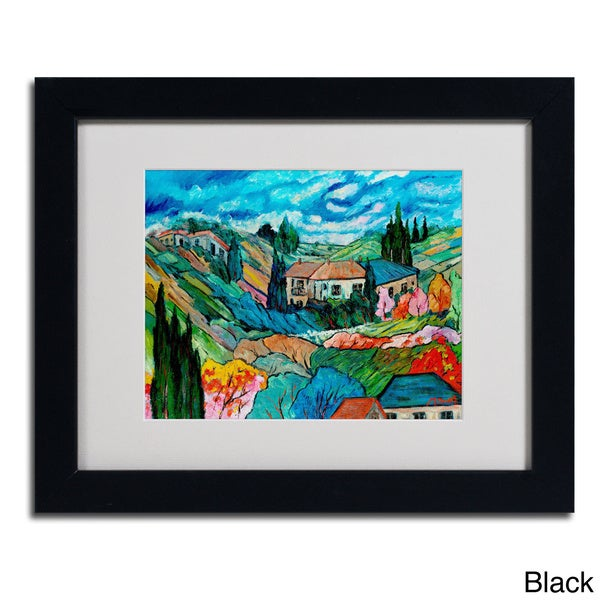 Manor Shadian Valley House Framed Matted Art Free