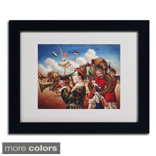 Edgar Barrios 'Circus Hit Parade' Framed Matted Art