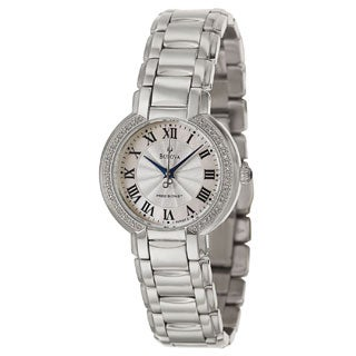Bulova Women's 96R167 Fairlawn Silvertone Bracelet Mother-Of-Pearl Dial Watch