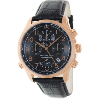 Bulova Men's 97B122 Wilton Chronograph Black Dial Watch