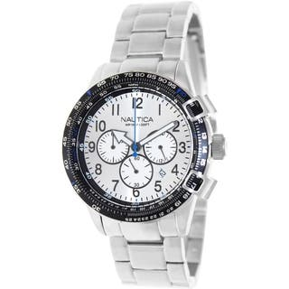 Nautica Men's Silvertone Stainless-Steel Bracelet Silvertone Dial Watch https://ak1.ostkcdn.com/images/products/8607082/Nautica-Mens-Silvertone-Stainless-Steel-Bracelet-Silvertone-Dial-Watch-P15875557.jpg?impolicy=medium