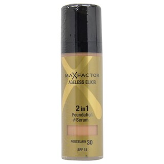 Ageless Elixir 2in1 Foundation + Serum SPF 15 - # 30 Porcelain by Max Factor for Women - 30 ml Foundation + Serum