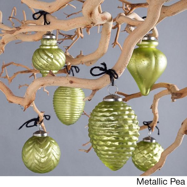 Fiona Handmade Glass Ornaments Unique Shapes (Set of 6)