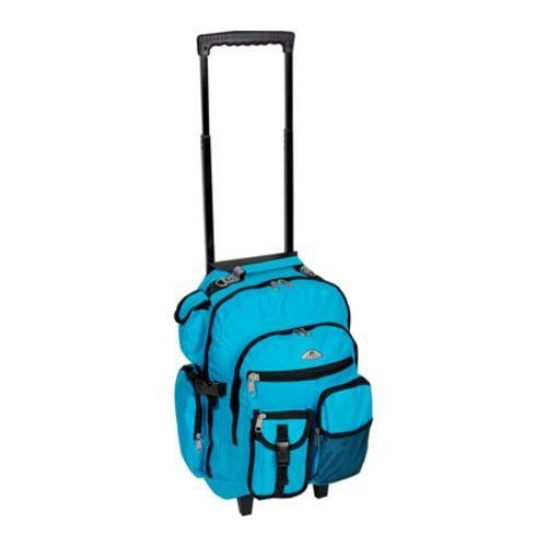 Everest Deluxe Wheeled Backpack Turquoise