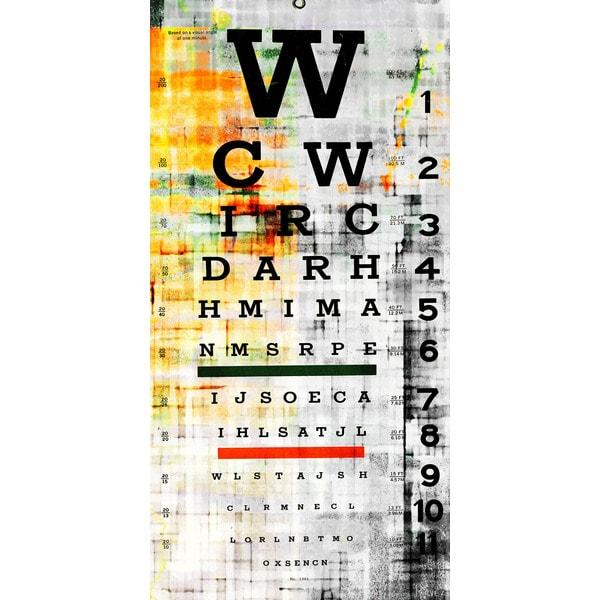 'Eye Chart' Canvas Art - Multi