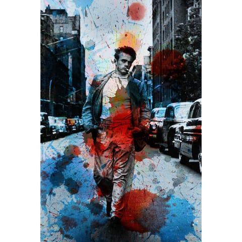 Handmade Parvez Taj - James Dean NYC Canvas Art