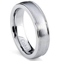 Oliveti Cobalt Men's Brushed Dome Center Comfort Fit Ring (5 mm)