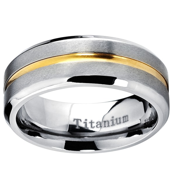 Titanium Grooved Ridged Edge 10mm Brushed Wedding Ring Band Size 13.50 Fashion Refreshment Engagement & Wedding
