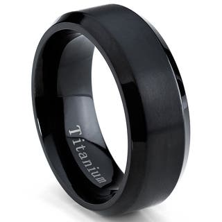 Oliveti Men's Black Plated Titanium Comfort Fit Band (8mm)|https://ak1.ostkcdn.com/images/products/8608544/P15876741.jpg?impolicy=medium