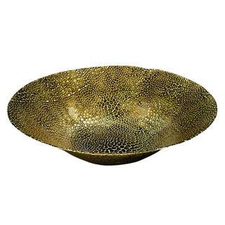 Goldtone Snakeskin Bowl