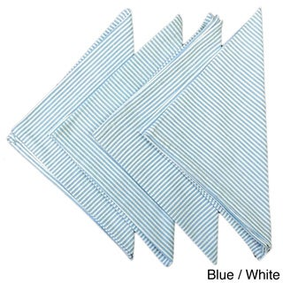 Taupe or Blue And White Stripe Napkins (Set of 4)