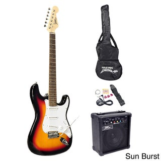 Pyle Beginner Electric Guitar Package (Option: Sun Burst)