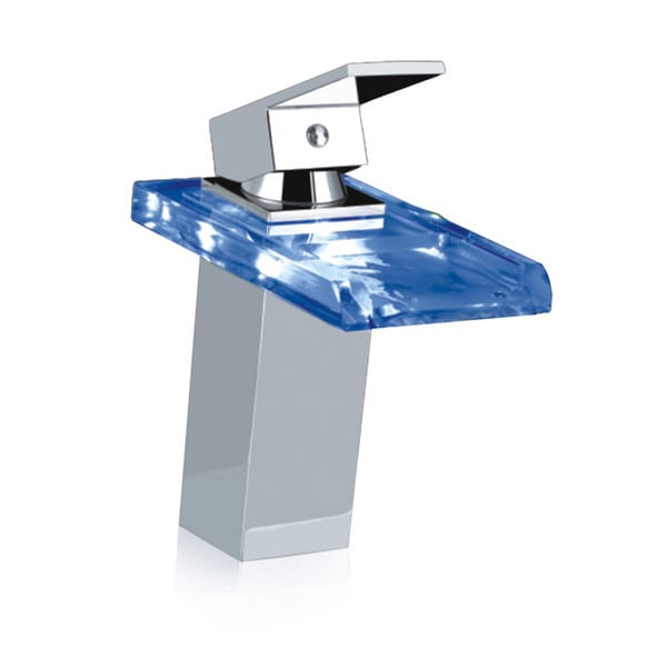 Gallery Chrome LED Bathroom Sink Waterfall Faucet