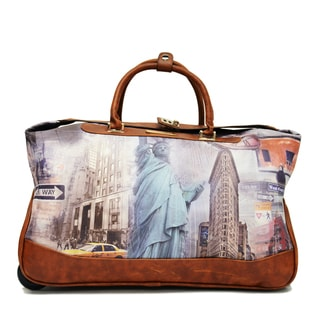 Nicole Lee Special Print Edition Teresa Carry On Rolling Upright Duffel With Laptop Compartment