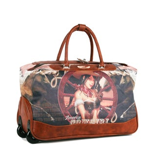 Nicole Lee Teresa 'Cowgirl Wheel' Carry On Rolling Upright Duffel With Laptop Compartment