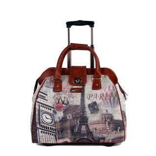 Nicole Lee Cheri 'Paris' Carry On Rolling Upright Laptop Tote