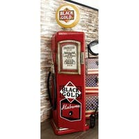 Eclectic 33 X 10 Inch Red Wooden Gas Pump CD Holder by Studio 350