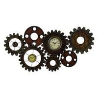 Carbon Loft Kellogg Clock Gear Wall Art