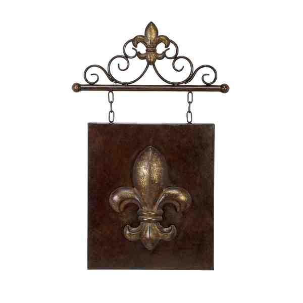 Metal Fleur-de-Lis 15-inch Wall Decor