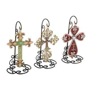 Assorted Metal Cross Wall Decor (Set of 3)