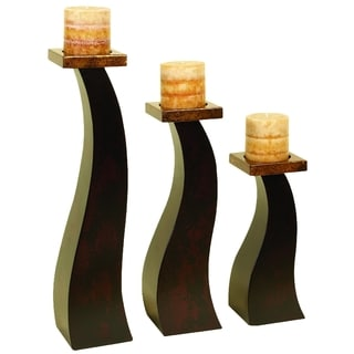 Wood Candle Holder (Set of 3)