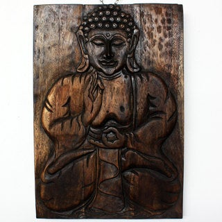 20 x 30-inch Sakyamuni Seated Buddha Panel (Thailand)