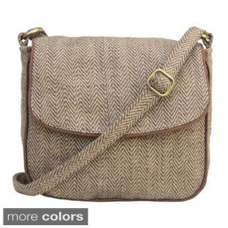 Leaf & Fiber Handmade Eco-friendly Messenger Bag (India)