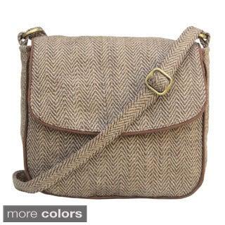 Leaf & Fiber Handmade Eco-friendly Messenger Bag (India)