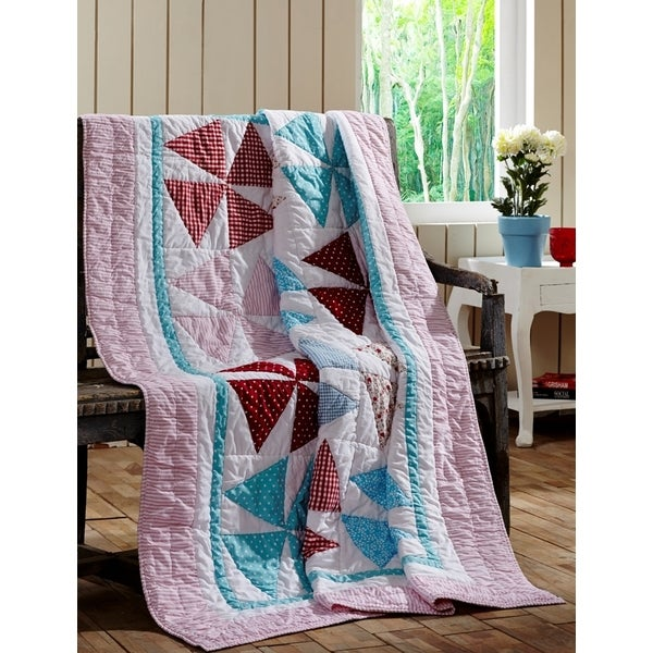 Shop Piper Cotton Quilted Throw Blanket On Sale Free Shipping Awesome How To Make A Quilted Throw Blanket