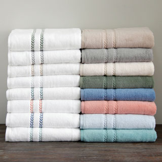 Lenox Pearl Essence Pima Cotton Blend Bath Towel (3-piece Set)