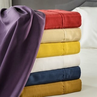 Elle & Alix Pure Mulberry Sandwashed Habotai Silk Sheet Set