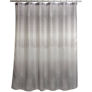black and gray shower curtain. spectrum grey ombre shower curtain black and gray