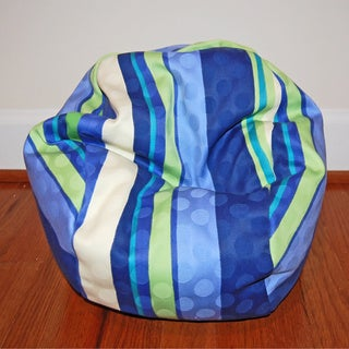 Ahh Products 14-Inch Marina Stripes LiL Me Bean Bag Chair For Dolls