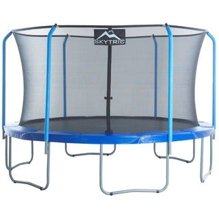 SKYTRIC 15 ft. Trampoline with Top Ring Enclosure System Equipped with 'EASY ASSEMBLE FEATURE'
