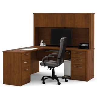 Bestar Embassy 6-drawer L-shaped Workstation Desk Kit