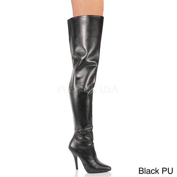Pleaser Women's SEDUCE-3010 5-inch Stiletto Heel Classic Plain ...