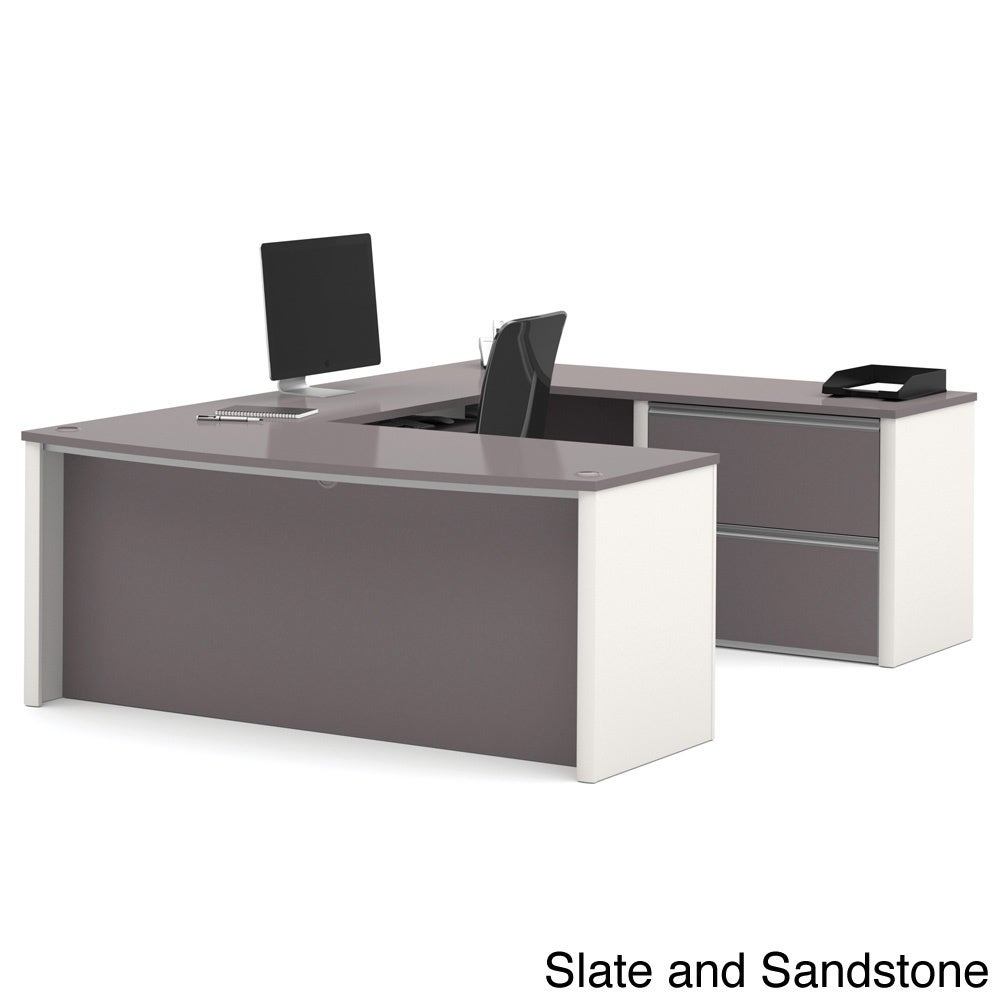 Bestar Connexion U-shaped Workstation Desk Kit (Grey)