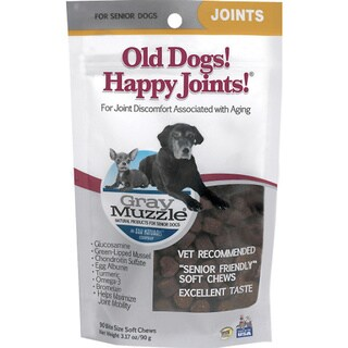 Ark Naturals Gray Muzzle Joint Treats for Senior Dogs (Pack of 2)